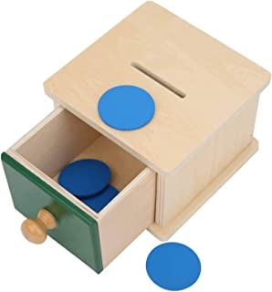 Ball Box Toy, Wooden Imbucare Box, Wooden Ball Box, Educational Fun for Kids Home Kinderparten Children(Wafer and box)