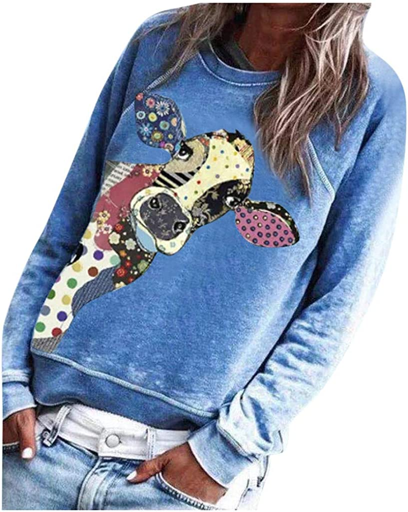 POTO Pullover Sweatshirts for Boston Mall Dealing full price reduction Women Casual Tee Animal Printing S