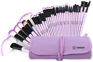 Make up Brushes, VANDER Professional 32pcs Makeup Brush Set, Makeup Brushes Set Foundation Blending Cosmetic Brush Set Kit,Purple