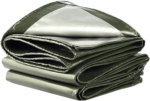 TAO-bache PE Verte argentée résistante à la Pluie pour Le Camping de Meubles de Jardin Options Multi-Tailles (Taille   5x8m)