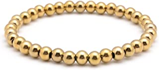 Stainless Steel Bead Elastic Bracelet