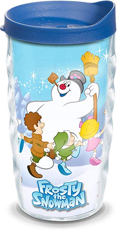 Tervis 1186168 Warner Brothers Frosty The Snowman Insulated Tumbler With Wrap And Lid 10 Oz Wavy Clear