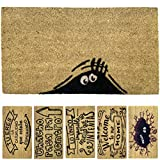 LucaHome - Felpudo de Coco Natural 70x40 con Base Antideslizante, Felpudo de Coco Divertido Sombra,...