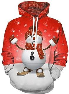 Unisex Christmas Hoodie Sweatshirts Casual Printed Kangroo Pocket Pullover