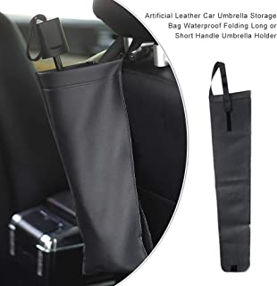 Qiyun Organizer per Auto,1 Paio Universale Porta Ombrello Car Trunk Mounting Staffa Umbrella Holder Clip Hook Interno Multifunzionale Nero