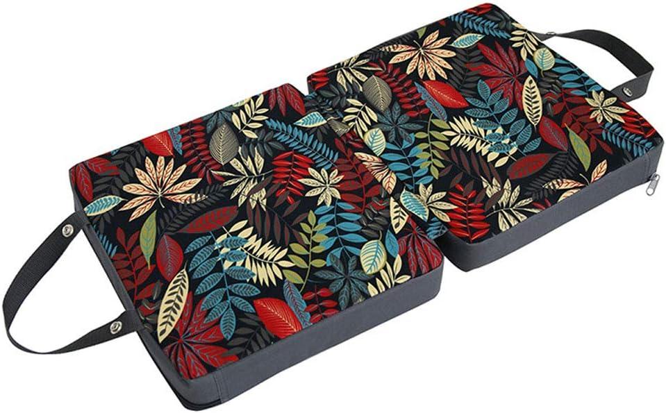 Green Camelliass Garden Kneeling Mat Garden Kneeler Pad Extra Thick Foldable Garden Kneeler Memory Foam Cushion Mat