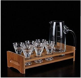 Decanter Whisky Decanter Vin Crystal Sans plomb Verre Verre Verre Verre Verre De Petite Vin Glass Titulaire Splitter Set S...