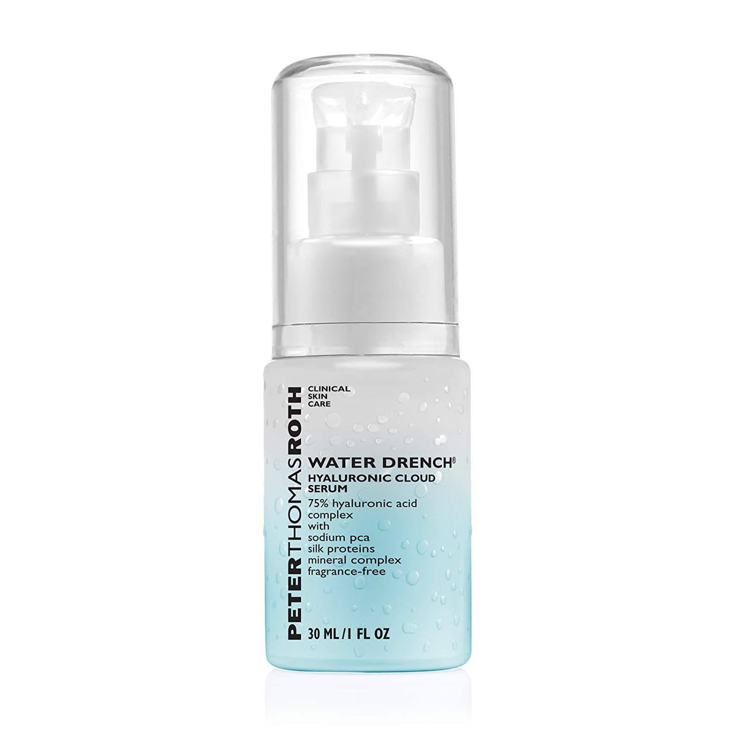 Peter Thomas Roth Water Drench Hyaluronic Liquid Gel Cloud Serum, Hyaluronic Acid Serum for Fine Lines and Uneven Texture