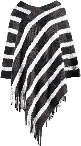 清仓甩卖女式披肩和披肩女式冬季针织羊绒披肩披肩开襟羊毛衫休闲外套 2019 新款均码黑色