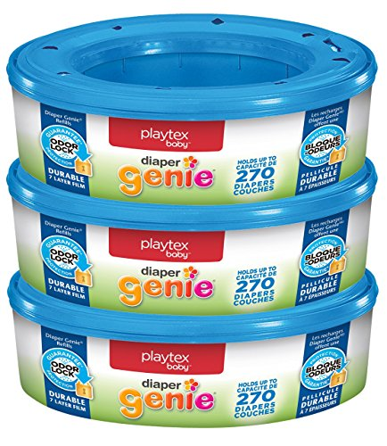 Playtex Diaper Genie Refill Bags, Ideal for Diaper Genie Diaper Pails, Pack...