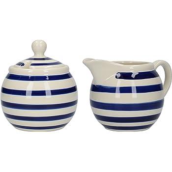 cer/ámica Juego de azucarero y jarra de leche con dise/ño de entramado London Pottery JY18LT46