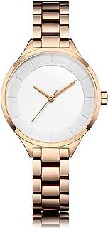 ساعات نسائية فاخرة كوارتز مقاومة للماء للنساء ساعة يد للسيدات والفتيات ساعة أنيقة هدية (اللون: A)