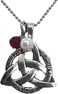 Outlander Inspired Necklace - Celtic Trinity Knot Pendant on 18 Inch Chain Hand Stamped Jamie and Claire