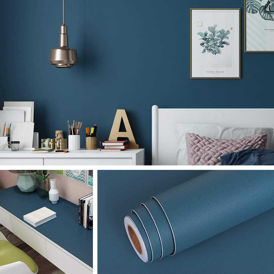 Livelynine free 15.8 x New sales 394 Inch Blue Removab Wallpaper and Stick Peel