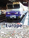 RailPass RailMap Europe 2019: Discover Europe with Icon and Info illustrated Railway Atlas specifically designed for global Eurail and Interrail Railpass holders