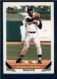 Baseball MLB 1993 Topps #201 Jose Uribe Giants