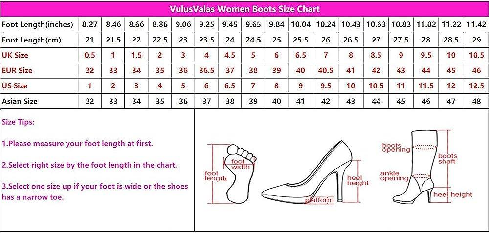 VulusValas Femmes Bottes Slouch Mode Bottes Longues
