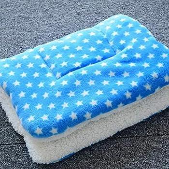 ANBIWANGLUO Couvertures de Chien et de Chat pour l'animal de Sommeil Doux 4 Taille 4 Couleur(Bleu,Small