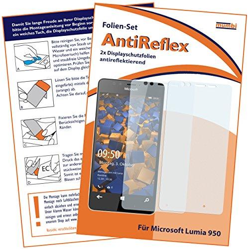 mumbi Schutzfolie kompatibel mit Microsoft Lumia 950 Folie matt, Bildschirmschutzfolie (2X)