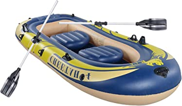 ALOVEMO 3-4 Person Inflatable Kayak Set with 2×Oars and Pump