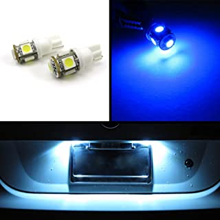 FLA 5-SMD SMT T10 Wedge Light Bulbs LED Chips 168 194 W5W 2821 License Plate Interior Trunk Parking Lights (Blue)