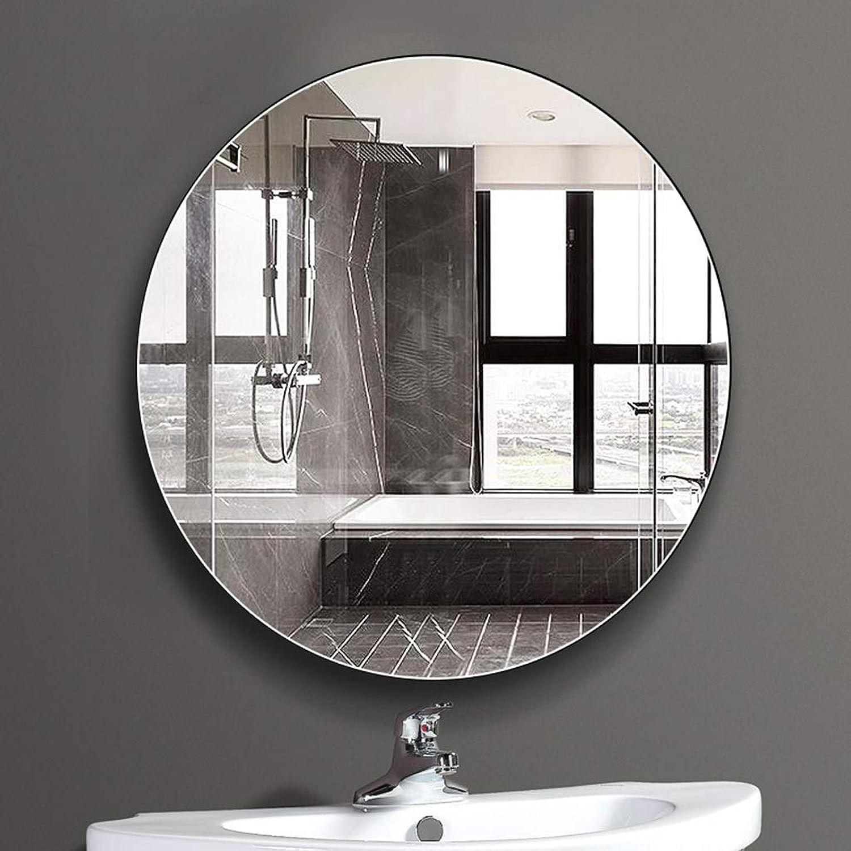 RXY-mirror Frameless Bathroom Mirror, Wall Mounted Round Mirror Decorative Mirror (Size   50cm)