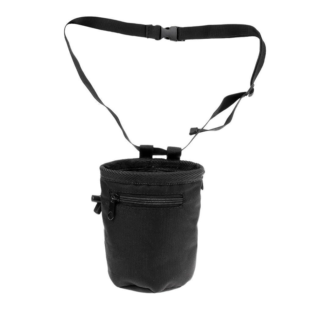 退院着飾る口頭CUTICATE 円筒形ロッククライミングチョークバッグ+ウエストベルト&ひも&ジッパーポケット
