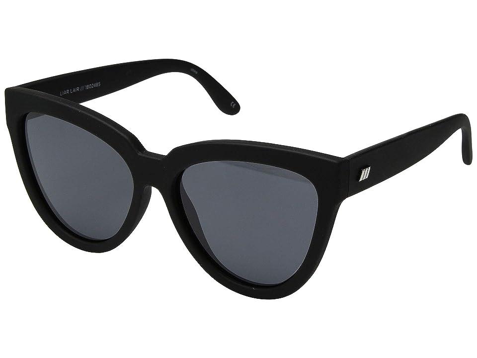 Le Specs Liar Lair (Black Rubber) Fashion Sunglasses