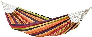 AMAZONAS Brasiliansk hängmatta Lambada Tropical 210 cm x 140 cm till 150 kg i färgglad randig