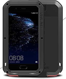 LOVE MEI Case for HUAWEI P10 Plus (5.5 inch), Waterproof Shockproof Dustproof Powerfull Aluminum Metal with Tempered Glass Cover [Two-Years Warranty] Win-914
