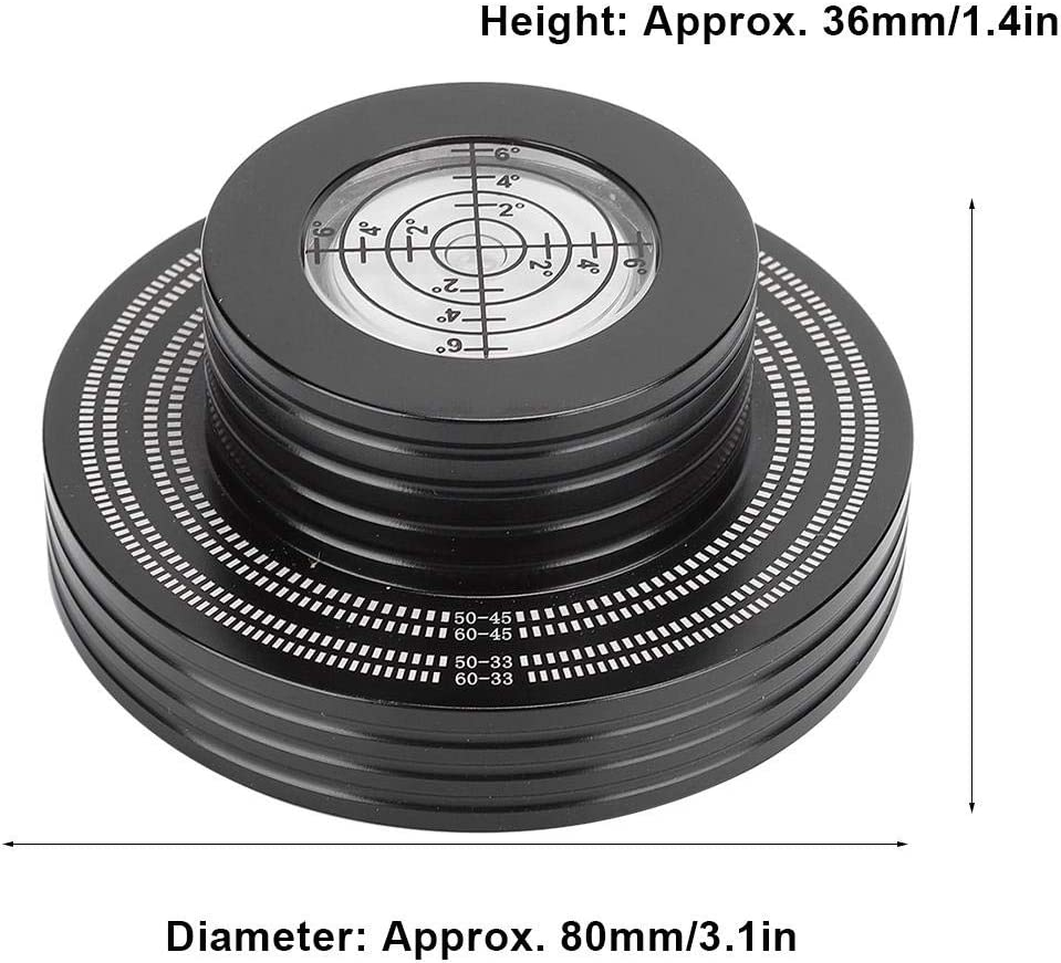 avec Gradienter de Haute pr/écision Noir Hakeeta L-P Disque Vinyle Stabilisateur de Poids Platine Tourne-Disque Coussin de Base Souple Prise en Charge 50Hz//60Hz et 33rpm//45rpm