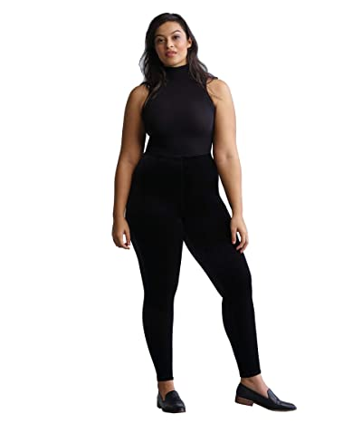 Commando Plus Size Velvet Leggings with Perfect Control+ SLG05W (Black) Women