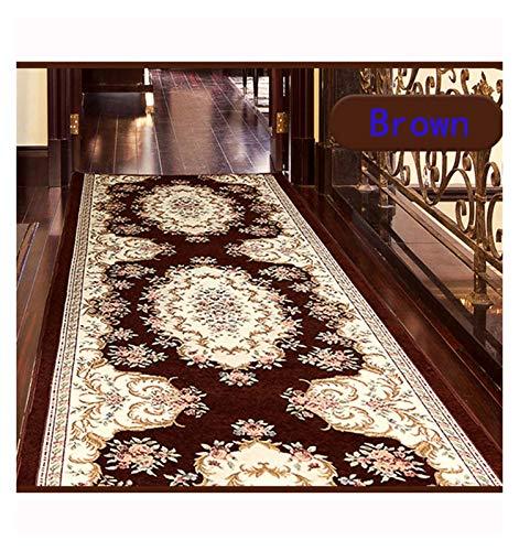 ditan XIAWU Rutschfester Eingangsteppich Gang Kann Geschnitten Werden Gang Treppe Wohnzimmer (Color : Brown, Size : 90x160cm)