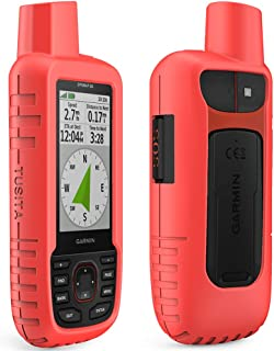 TUSITA Case for Garmin GPSMAP 66i - Silicone Protective Cover - Handheld GPS Accessories (Red)