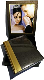 Showoff Albums 11 X 14 Album with Frame Box Two Tone Cover Brown/Gold, 15 Pages (30 Sides)
