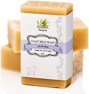 Lavender Goat Milk Soap Bars (3 Pack) - For Eczema, Psoriasis & Dry Sensitive Skin. All Natural Soap For Men, Women, Kids ...