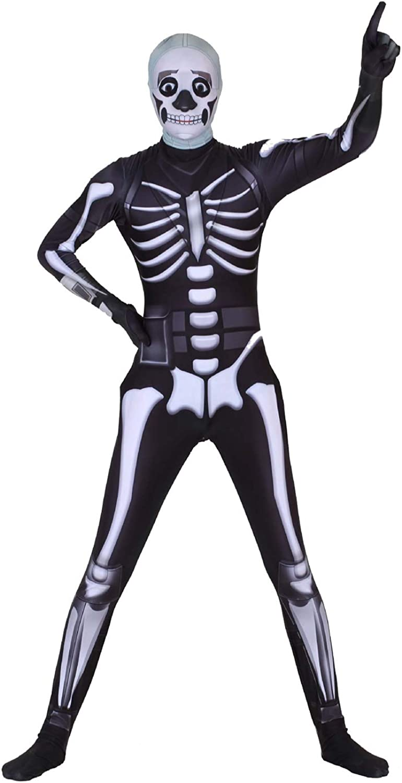 Poptrend Halloween Spandex Zentai Latest item Trooper Bargain sale Skull Costume Cosplay