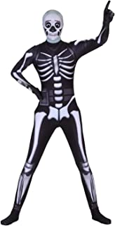 Poptrend Halloween Spandex Zentai Cosplay Costume Skull Trooper Costume Adult and Kids