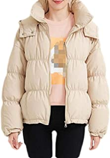 Macondoo Women Outwear Thick Winter Quilted Hooded Down Jackets Coat