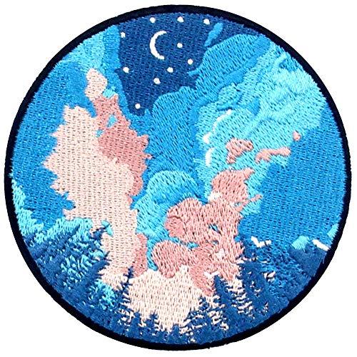 Parche termoadhesivo para la ropa, diseño de El cielo estrellado