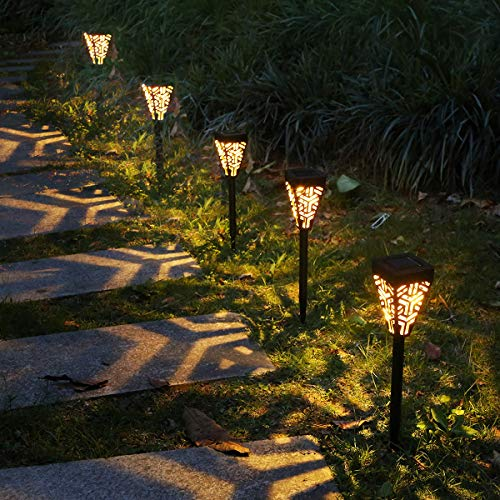 Tomshine Solar Pathway Lights Outdoor, 6 Pack LED Solar...