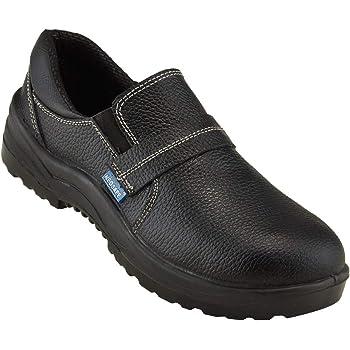 Neosafe A5012_9 Tuff PU Leather Safety Shoes, Size 9, Black