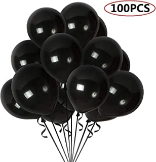 Maylai 100 Pack Pearl Black Balloons 12 Inch(Thicken 3.2g/pcs) Round Helium Pearlized Balloons for Wedding Birthday Christmas Party Decoration (Black)