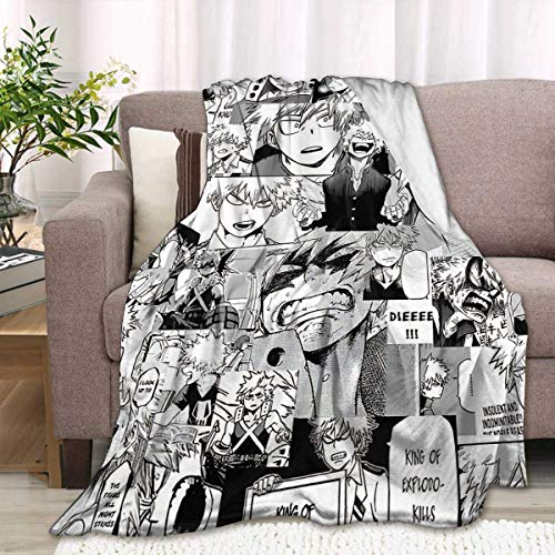 959 Custom Personalized Bakugou Izuku Partners Soft Blanket Couch Lazy Bed Throw Gift for Child Adults 60x50 Inch Throw