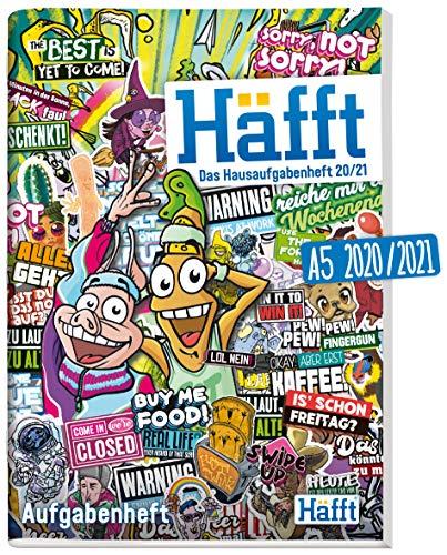 Häfft Original - Das Hausaufgabenheft 2020/2021 A5 [Stickermania] ultimativer Schülerkalender, Schülerplaner | nachhaltig & klimaneutral