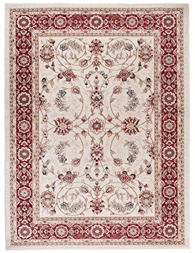 We Love Rugs - Carpeto Traditioneller Klassischer Teppich für Ihre Wohnzimmer - Weinrot Beige - Perser Orientalisches Antik Ziegler Ornamente Top Qualität Pflegeleicht AYLA 160 x 220 cm Groß