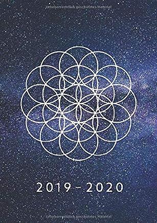 2019 - 2020: 1 Woche auf 2 Seiten | Wochenplaner ab KW31 | August 2019 bis Juli 2020 Kalender | Größe A5 | 52 Wochen Terminkalender Planer | Blume des Lebens Motiv
