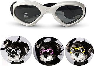 Homesupplier Mascotas Perro Disfrutar Moda Anti-ultravioleta Gafas de sol impermeable Gafas de sol para mascotas Nuevo Atractivo perros Blinkers Gafas de sol Respirador Refrescante - Blanco