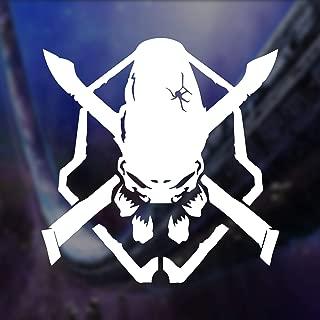 Halo Legendary Emblem Logo Vinyl Decal Sticker (White, 6 inches)