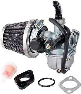 LWL PZ19 Carburetor Carb Hand Choke Cable with 35mm Air Filter Fuel Filter for 50cc 70cc 90cc 110cc 125cc ATV Dirt Pit Bike Go Kart Chinese 4 Wheeler Taotao Honda CRF